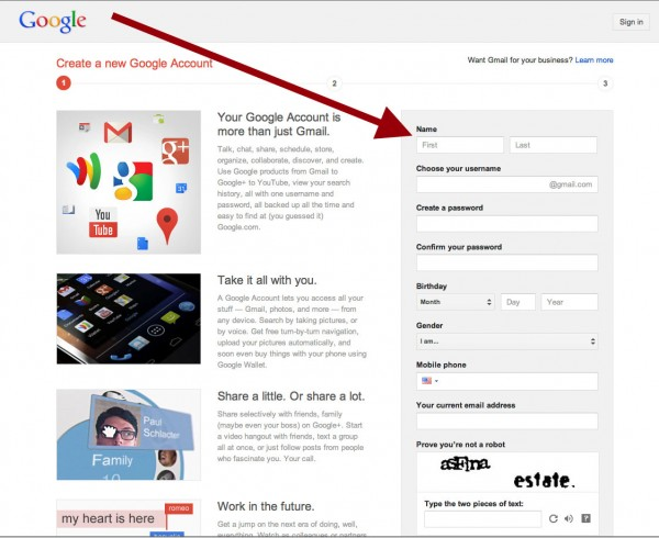 Gmail Setup - how to setup your own gmail account