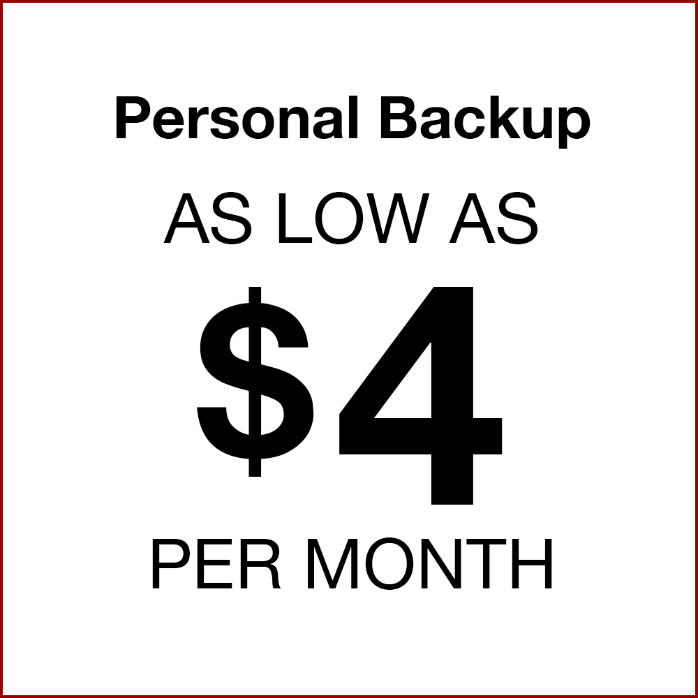 Personal Backup as low as $4 per month