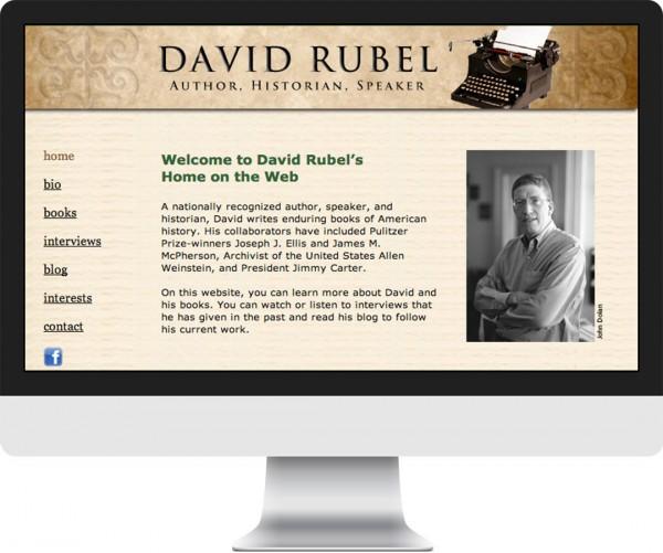 David Rubel website on desktop, tablet and phone