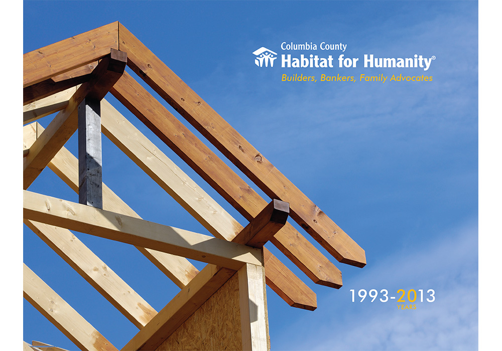 Habitat for Humanity of Columbia County, NY annual report - designed by Trevellyan.biz, Columbia County, NY graphic designer