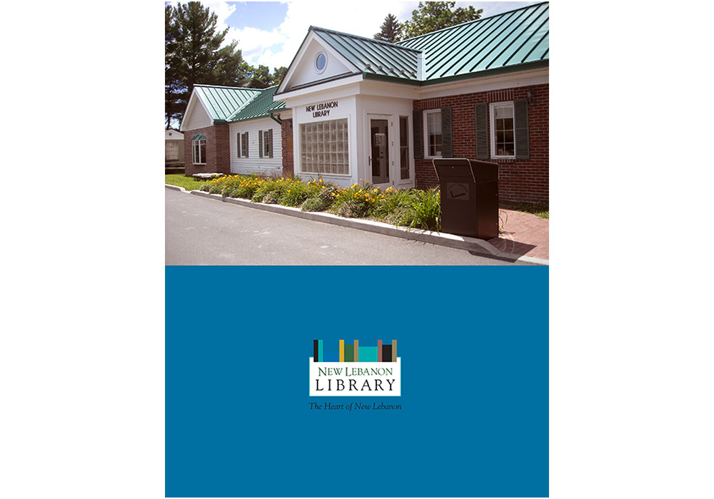 The New Lebanon Library annual report - designed by Trevellyan.biz, Columbia County, NY graphic designer