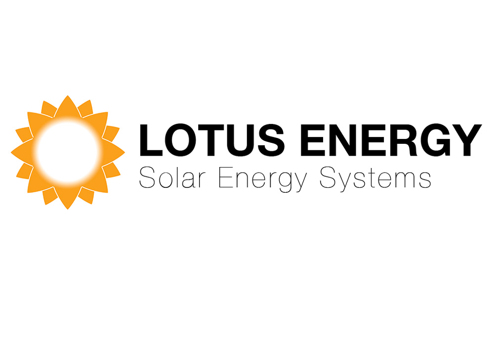 Lotus Energy Solar Energy Systems logo - designed by Trevellyan.biz, Columbia County, NY graphic designer