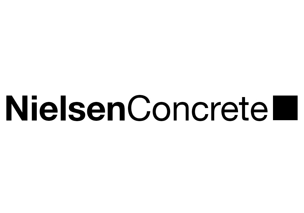 Nielsen Concrete logo - designed by Trevellyan.biz, Columbia County, NY graphic designer