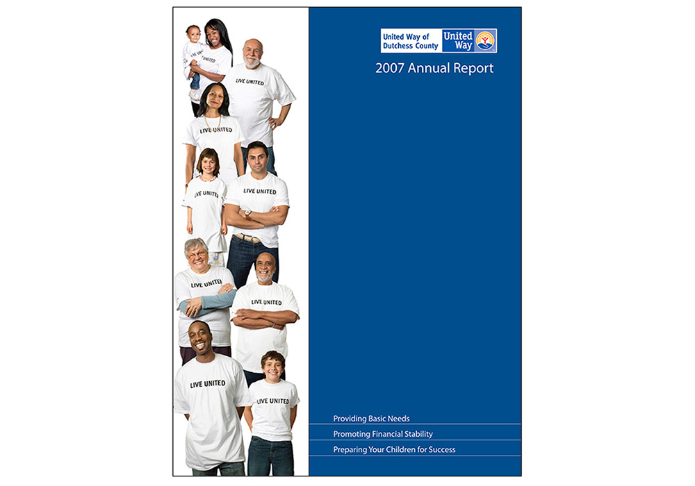 United Way Annual Report - designed by Trevellyan.biz, Columbia County, NY graphic designer
