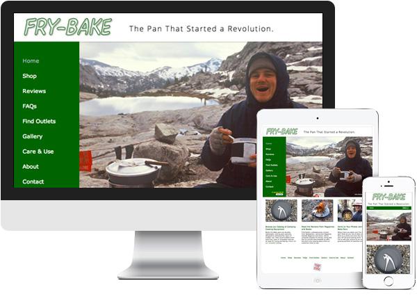 Banks Fry-Bake. Hudson, NY website on desktop, tablet and phone