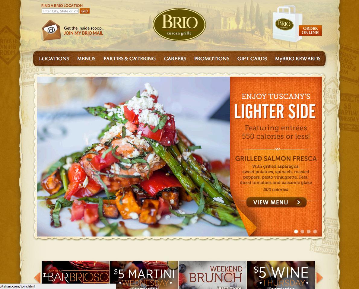 BRIO Tuscan Grille - Detroit - Somerset Brio Restaurant - Troy MI