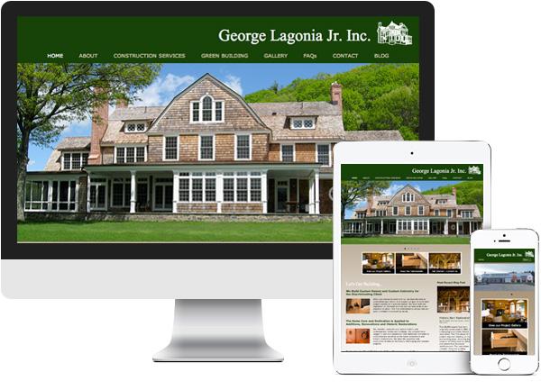 George Lagonia Jr. Inc. Hillsdale, NY website on desktop, tablet and phone