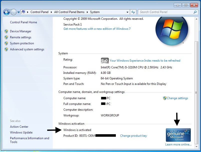 how to remove your computer might be running a counterfeit copy of windows