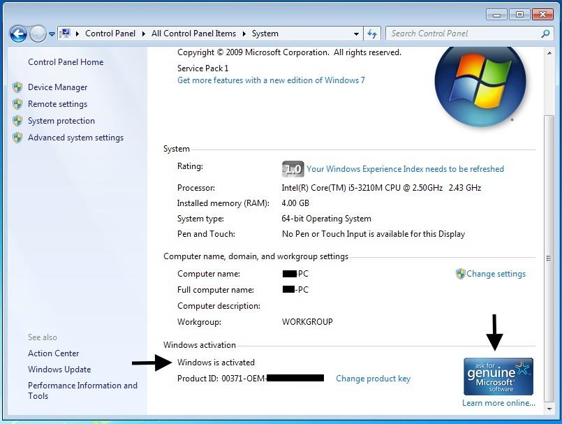 not running genuine windows error