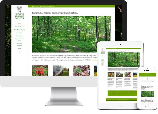 Land Stewardship Design website on desktop, tablet and phone