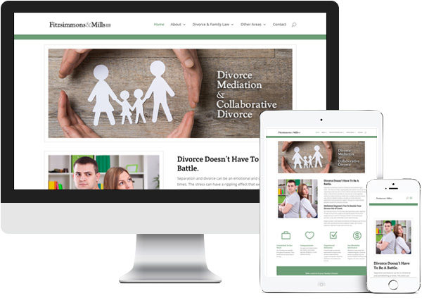 Fitzsimmons and Mills P.C. website on desktop, tablet and phone