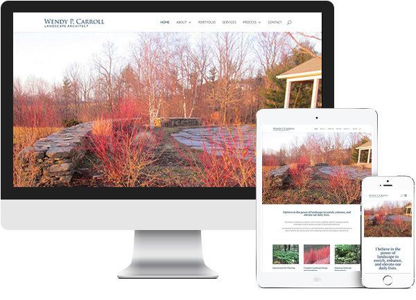 Wendy P. Carroll website on desktop, tablet and phone