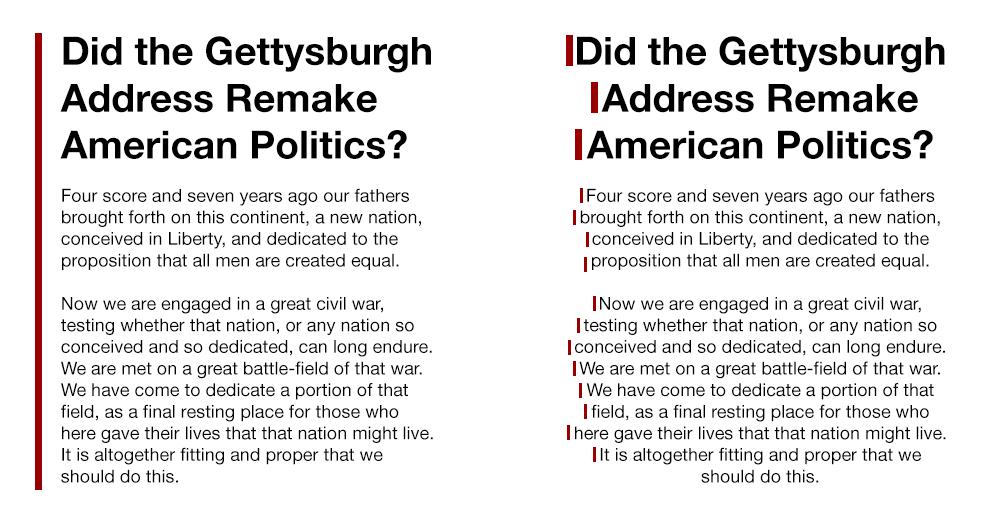 Centered Text vs Flush Left
