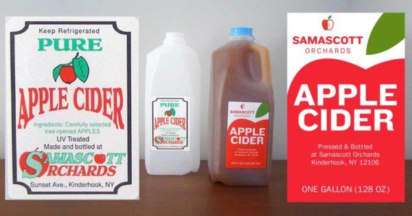Food label design Redesigned Apple Cider Label