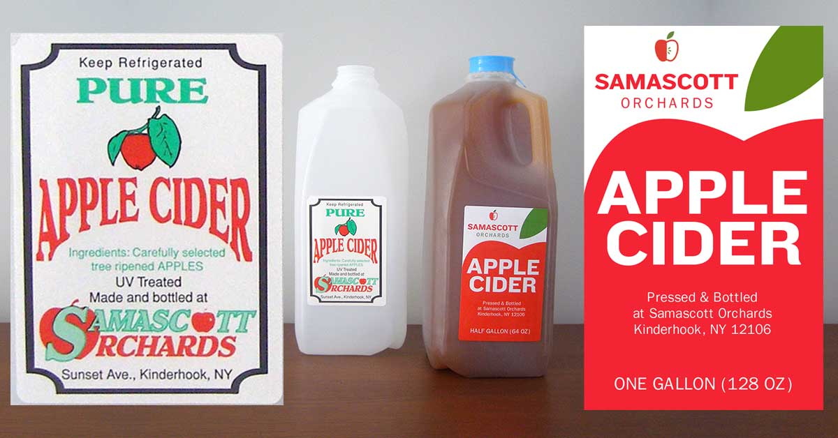 Food Label Design: Redesigned Apple Cider Label