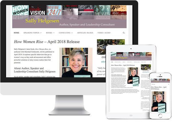 Sally Helgesen website on desktop, tablet and phone