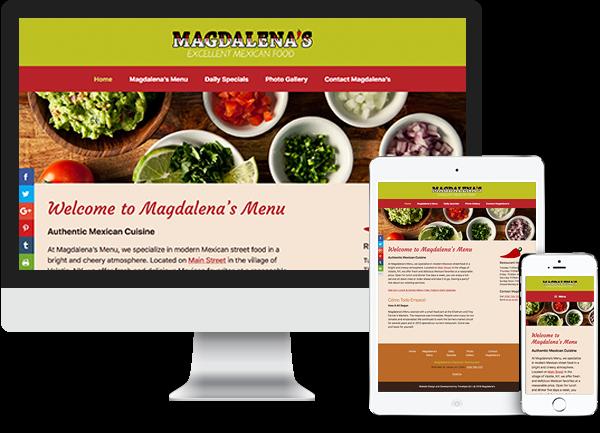 Magdalena's website on desktop, tablet and phone