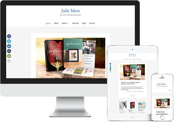 Julie Metz website on desktop, tablet and phone