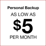 Personal backup as low as $5