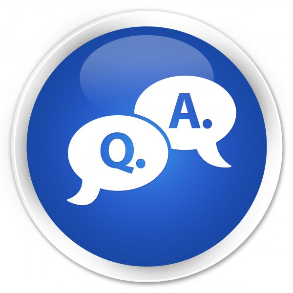 Q&A graphic illustrating FAQs: Frequently Asked Questions