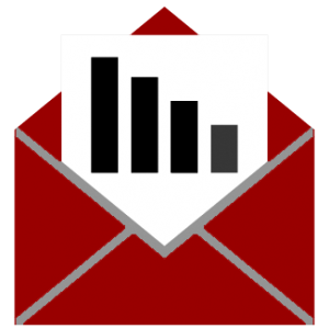 Illustration of an envelope with a letter sized graph inside
