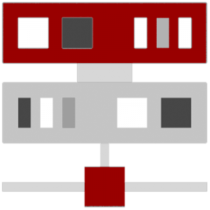 Illustration of a computer server