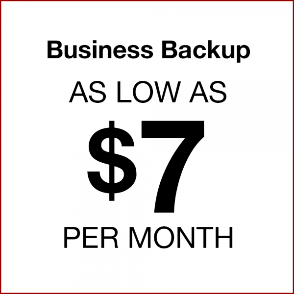 Business Backup as low as $7 per month