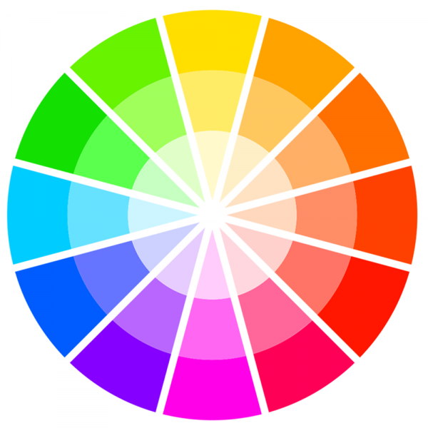 Screenshot of the Sessions College color wheel