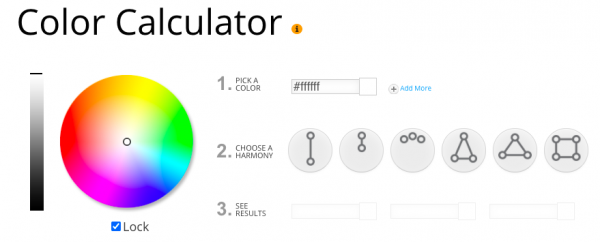 Screenshot of the Sessions College Color Calculator