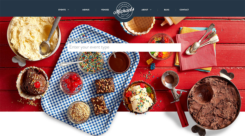 Deli websites - Catering by Michaels