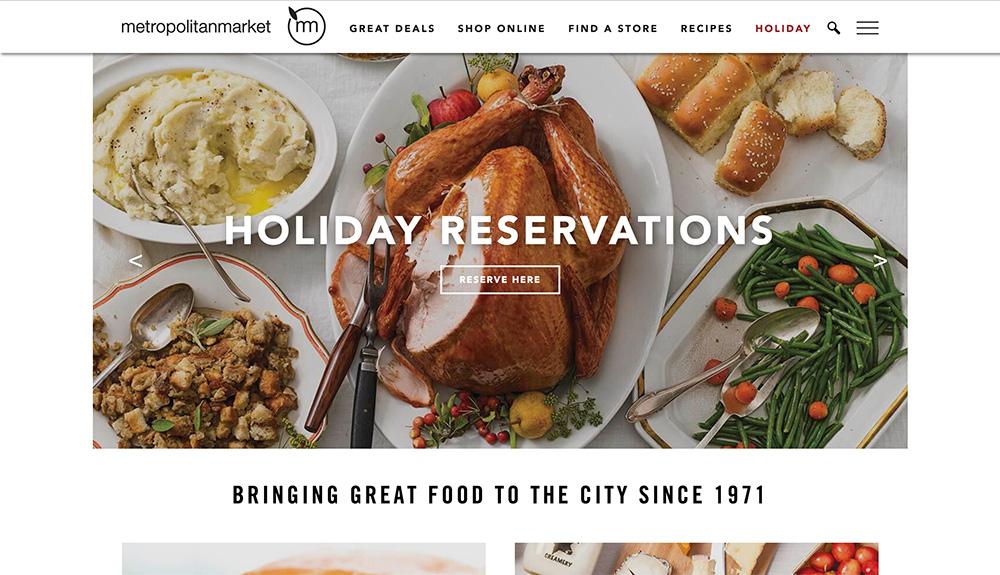 Deli websites - MetropolitanMarket